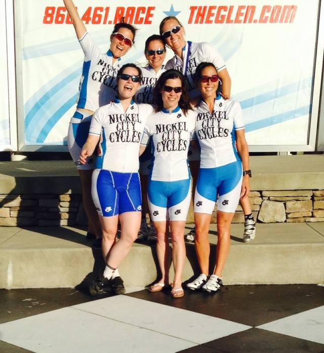 Alexis's team—great to see women enjoying riding together!